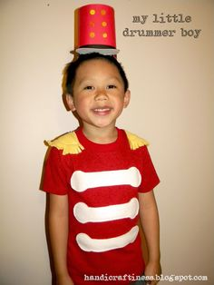 Handicraftiness An Easy DIY Drummer Boy Costume  sc 1 st  Pinterest : kids circus costume ideas  - Germanpascual.Com