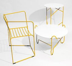 MODESTWORK designer is back with a new collection called Loft evo', which includes a chair, a coffee table, and side table. Made from bent steel bars, the collection features simple, skinny lines that are formed and shaped in unusual and curvy ways.