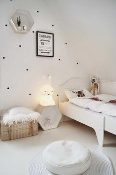 Incredibly versatile bedroom | 10 Monochrome Kids Rooms - Tinyme Blog