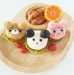 Animal burgers by Little Mama Bento (@littlemamabento)