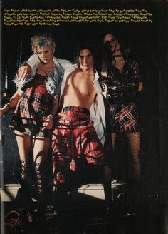 """Sassy, April 1994 - """"Sub-Culture"""" fashion spread, page 4 Sassy Magazine, Trash And Vaudeville, Hipster Looks, 90s Nostalgia, Plaid Dress, 90s Fashion, Betsey Johnson, Style Icons, Pop Culture"""