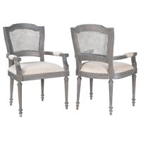 Beautiful turned legs, padded armrests, and comfortable upholstered seats Cane Back Chelsea Arm Chairs belleescape.com