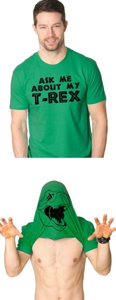 Mens Ask Me About My T-Rex T Shirt Funny Flip Up Trex Shirts