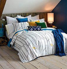 Cozy cabin bedroom