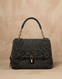 Handbag in lana crochet Dolce e Gabbana