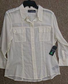 GUESS Womens Button Down Shirt Long Sleeve Size L #GUESS #ButtonDownShirt #Casual #ebay #fashion #sale #deals