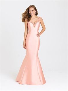 Coral Mikado Mermaid Gown by Madison James Special Occasion - Color Your Classy Wardrobe Prom Dresses Under 100, Prom Dresses 2016, Prom Dresses For Sale, Pageant Dresses, Ball Dresses, Ball Gowns, Prom 2016, Party Dresses, Unconventional Wedding Dress