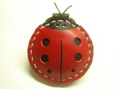 Penny the Ladybug leather keychain