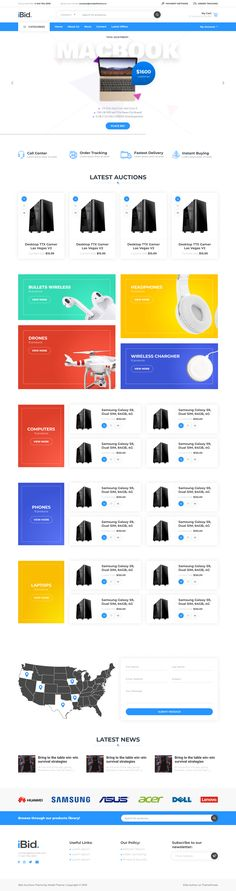 Buy iBid - Multi Vendor Auctions WooCommerce Theme by modeltheme on ThemeForest. Online Shopping Websites, Page Layout, Wordpress Theme, Auction, Layout, Wordpress Template
