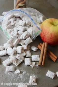 Kicking off the fall season with some apple pie spice puppy chow…