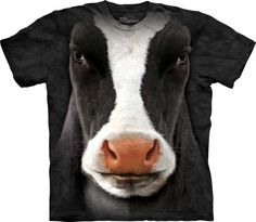 black cow face the mountain printed t shirts 4197 p 730x636 Realistic 3D Farm Animal Face T Shirts by The Mountain