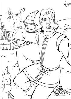 Shrek Tegninger til Farvelægning. Printbare Farvelægning for børn. Tegninger til udskriv og farve nº 23