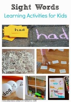 Sight Words- Learning Activities for Kids on FSPDT