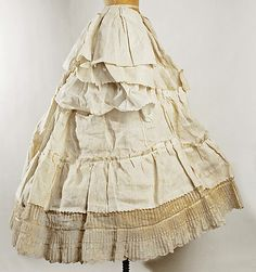 Cage Crinoline Made Of Horsehair - Probably American c. Mid 19th Century - The Metropolitan Museum Of Art