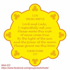 SWITCHTUDE: Wish Fulfillment EC PLEASE READ THE FULL POST. Combination of Magical Chant and Numbers 1176 - Successfully manifest your desires 599 061 898719 - Intend 51849131989 - Wish Number 777 - Miracles How to use: 1. Take a color print & Laminate it. 2. Write your wish (1 wish @ a time) on a 3 inches x 3 inches white paper with red ink (can be a ball pen, gel pen) 3. Fold the paper x 2 folds and place it over this Wish EC. 4. Everyday spend 3 minutes x 3 times sitting in front of this…