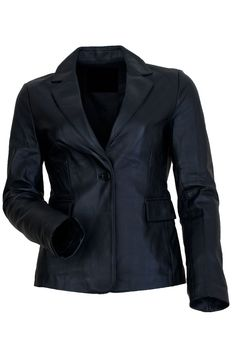 HAYDEN WOMEN'S BLACK LEATHER JACKET  NOW ONLY FOR £160.00–£174.00 BY UK Leather Factory