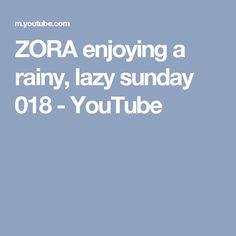 ZORA enjoying a rainy, lazy sunday 018 Animals And Pets, Cute Animals, Lazy Sunday, Animal Faces, Funny, Dogs, Youtube, Beauty, Pets