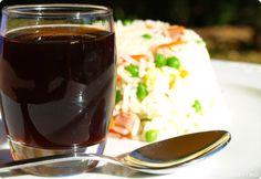 Arroz tres delicias con salsa de soja