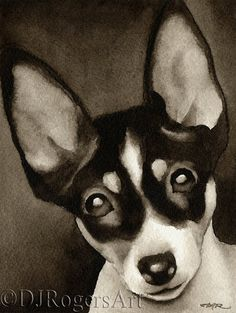 Hey, I found this really awesome Etsy listing at https://www.etsy.com/listing/174154136/toy-fox-terrier-sepia-art-print-signed
