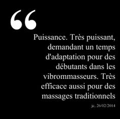 """Puissance. Très puissant, demandant un temps d'adaptation pour des débutants dans les vibrommasseurs. Très efficace aussi pour des massages traditionnels"", JC, 26/02/2014, french owner of #EuropeMagicWand wand massager. #5outof5 stars for @EuropeMagicWand. Get more info at www.europemagicwand.fr"