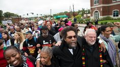 About a dozen people were taken into custody by midday, and more lines of protesters waited as civil disobedience spreads around the St. Louis region. http://www.nytimes.com/2014/10/14/us/st-louis-protests.html?_r=0