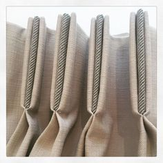 Image result for curtains with vertical contrast banding