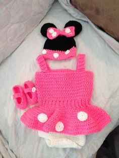 Crochet Minnie Mouse by CreationByMissy on Etsy, $35.00