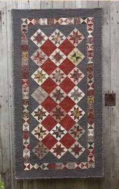 Primitive Folk Art Wall Quilt Pattern:  MIXED PEPPERCORN. $8.75, via Etsy.  Great colors