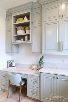 See our recap of the 2019 Utah Valley Parade of Homes for fresh home design and construction ideas and inspiration. Laundry Room Design, Dining Room Design, Layout Design, Home Luxury, Kitchen Desks, Kitchen Office, First Apartment Decorating, Blue Cabinets, Cute Kitchen