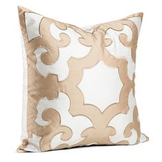 Designer Collections by Sheri Bukara Two-tone Embroidered 24-inch Throw Pillow