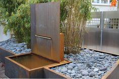 Verschiedene Metallarbeiten aus Cor- Ten stahl für ein Garten in Hannover