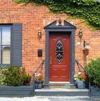 Color Orange Doors Windows Outrageous Brick