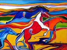 """""""Four Horse Run"""" par Marcia Baldwin"""