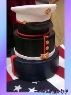 Amazing Marine cake for a groom's cake Pretty Cakes, Cute Cakes, Beautiful Cakes, Amazing Cakes, Unique Cakes, Creative Cakes, Take The Cake, Love Cake, Marine Cake