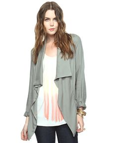 Pleat Pocket Open Cardigan | FOREVER21 - 2000040001
