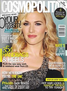 Cosmopolitan magazine Kate Winslet Handbags and heels Private sex texts Orgasm
