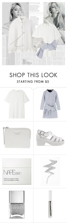 """Get off of my cloud."" by e-laysian ❤ liked on Polyvore featuring STELLA McCARTNEY, Monki, MSGM, The Webster, Jeffrey Campbell, NARS Cosmetics, NYX, Nails Inc., BBrowBar and Issey Miyake"