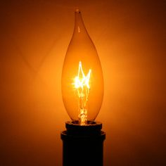 15 watt 120 volt Candelabra Screw Base Transparent Gold Antique Light Bulbs, Antique Lighting, Candelabra, Glow, Antiques, Honey, Base, Decor, Antique Lamps