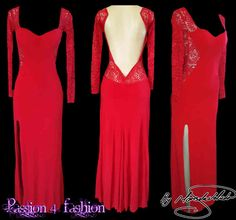 Red Lace matric dress