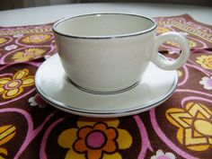 Vintage Swedish Stig Lindberg coffee cup and saucer Birka by Gustavsberg by AnnChristinsVintage on Etsy