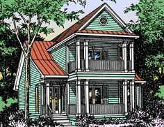 Plan 5572BR: Beach House Plan With Observation Room | Homes ...