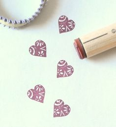 Groovy Heart Rubber Stamp by norajane on Etsy  #papercoterie