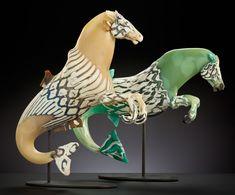 Hippokampi, 2013 | Shelley Muzylowski Allen | Blown and Hand-Sculpted Glass, Steel | Photo by KP-Studios.com