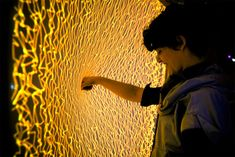 Firewall: An interactive fabric surface by Aaron Sherwood