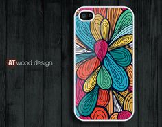 iphone 4 case iphone 4s case iphone 4 cover abstract colorized  flower graphic design printing. $13.99, via Etsy.