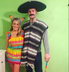 My DIY Piñata and mexican costume. Cinco de Mayo on Halloween