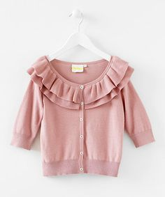 What a darling little sweater to cut the chill on those cooler Fall days.       #zulily #fall
