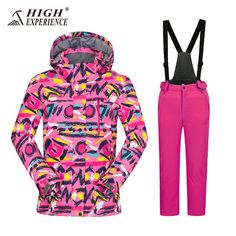 9b4612a53d Ski Suits For Girls Warm Winter Boy s Ski Suits Snowboarding Suits Kids  Skiing Jacket Pants Sport Suit For Girls Waterproof -30.