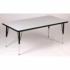 """Rectangle Activity Table with Grey Granite Top Leg: Standard Leg, Size: 30"""" W x 72"""" D, Color: Red by Correll. $173.99. A3072REC-15-TP-35-XX-SL Leg: Standard Leg, Size: 30"""" W x 72"""" D, Color: Red Features: -High pressure laminate tops with backer sheet.-Three additional screws in the leg plate.-Oversize hairpin brace makes this the strongest leg mounting system in the industry.-Free speed wrench for fast, easy height adjustments.-Standard leg adjusts from 21'' to 30'..."""