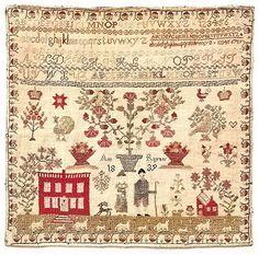 Original Ann Rayner Sampler of West Yorkshire County, England 1839